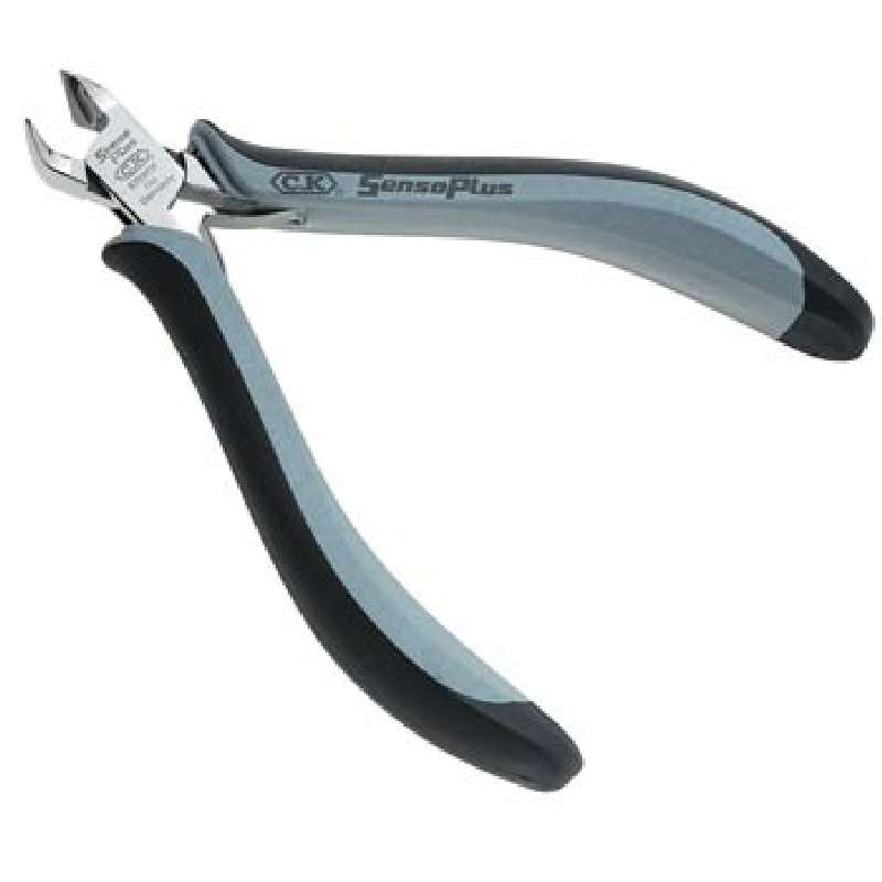 """ESD-Safe Oblique Angeled Head Full Flush Cutters with Ergonomic Grip Handles, 4-3/4"""" Long"""