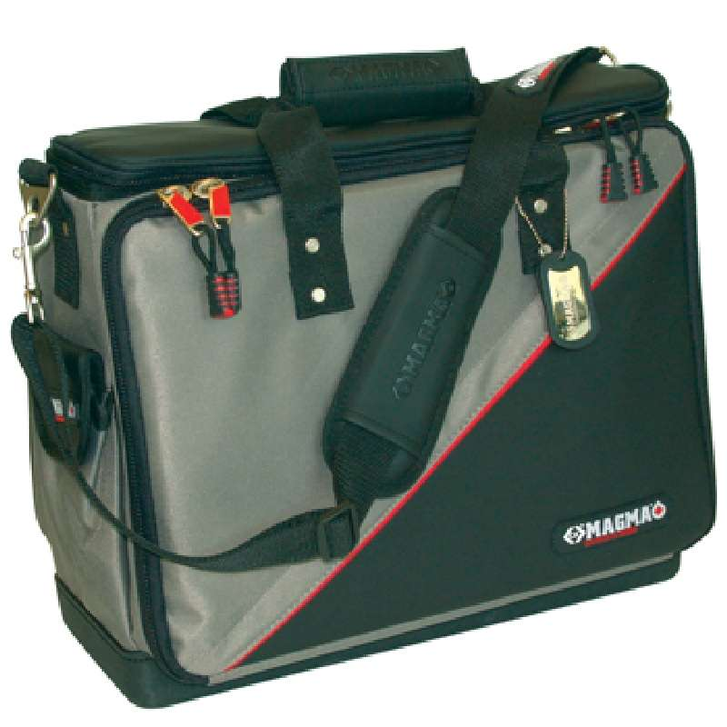 Professional Technician's Tool Case with 50 Internal Pockets and Padded Compartments, 17 x 12-1/2 x 7-1/2""