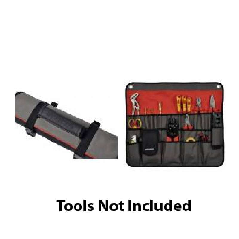 Versatile Tool Roll with 30 Pockets and a Padded Strap