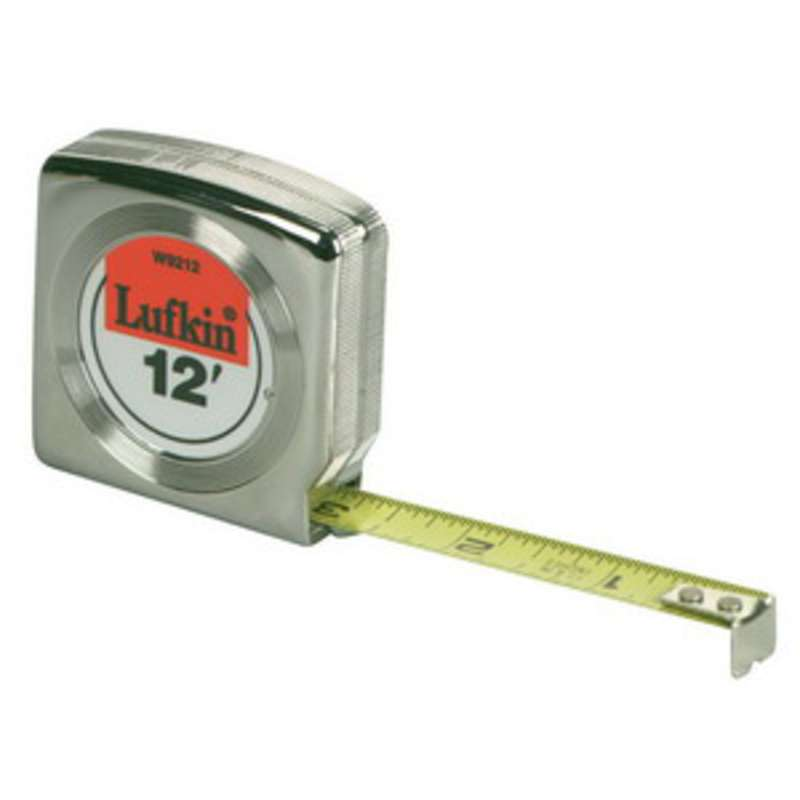 "Mezurall® Power Return Measuring Tape, Reads in Inches and Metric, 1/2"" x 10'"