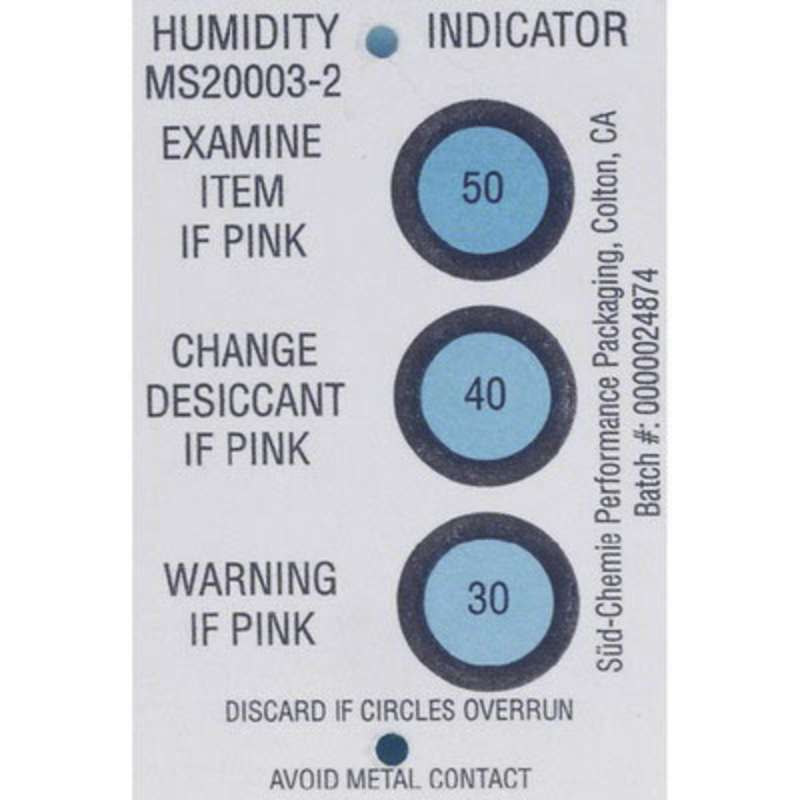 Humidity Indicator Card 30-40-50% 3 Spots, 125 Cards per Can