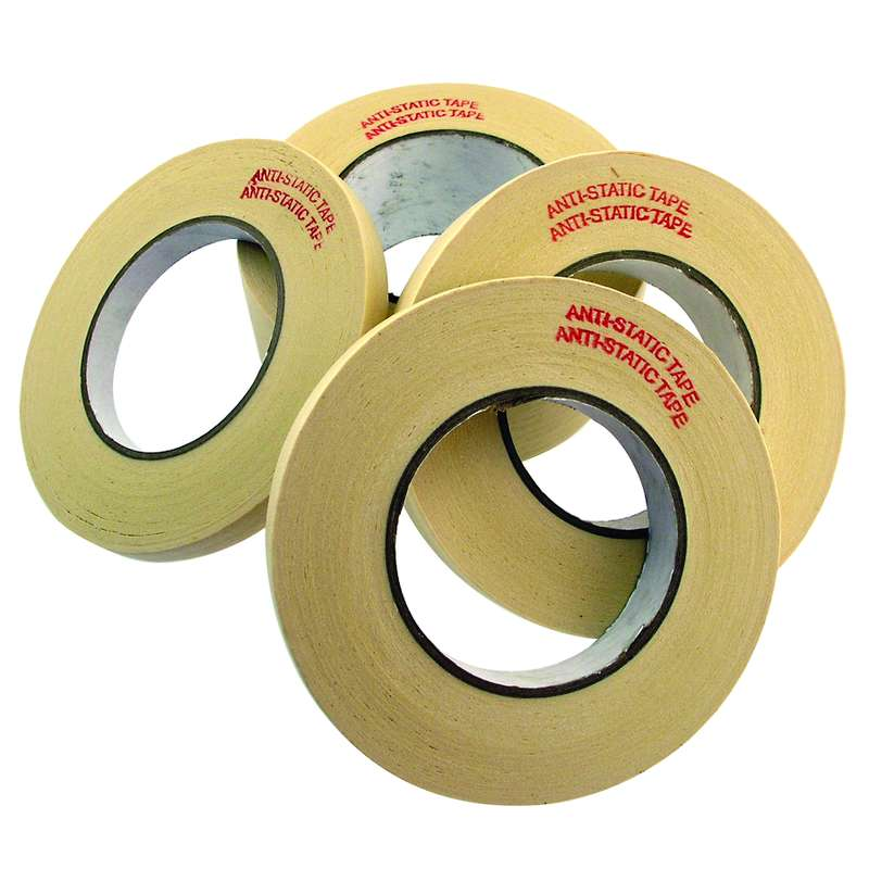 "Low Static Hi Temp Masking Tape, 3"" Core, 1-1/2"" x 60 Yards to 310° F"