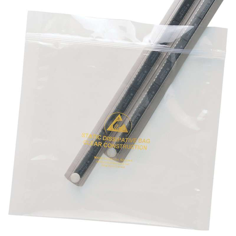 "Statfree® Dissipative Ultra Clear 3.5 Mil Zip Top Polyester Bag, 3 x 5"", 100 per Package"