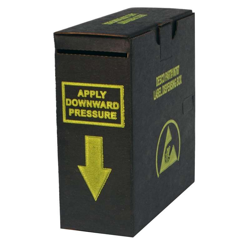 "ESD-Safe Label Dispensing Box for 2 x 2"" Maximum Label Size"