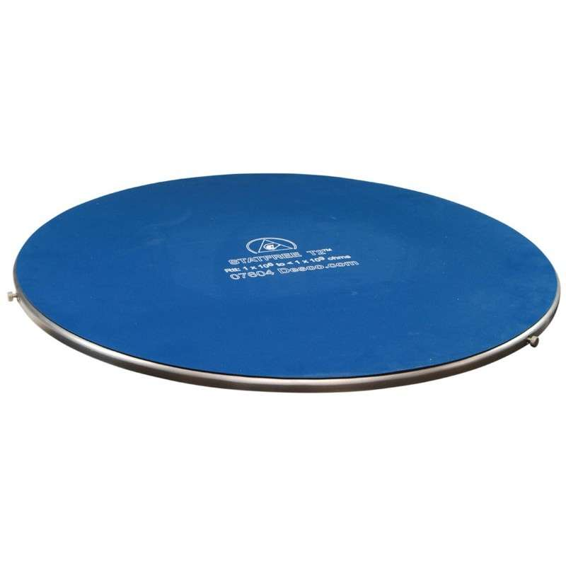 "Gyro-Stat® ESD-Safe Bench Top Turntable with Dissipative Dual Layer Rubber Mat Surface, 18-3/4"" Diameter"