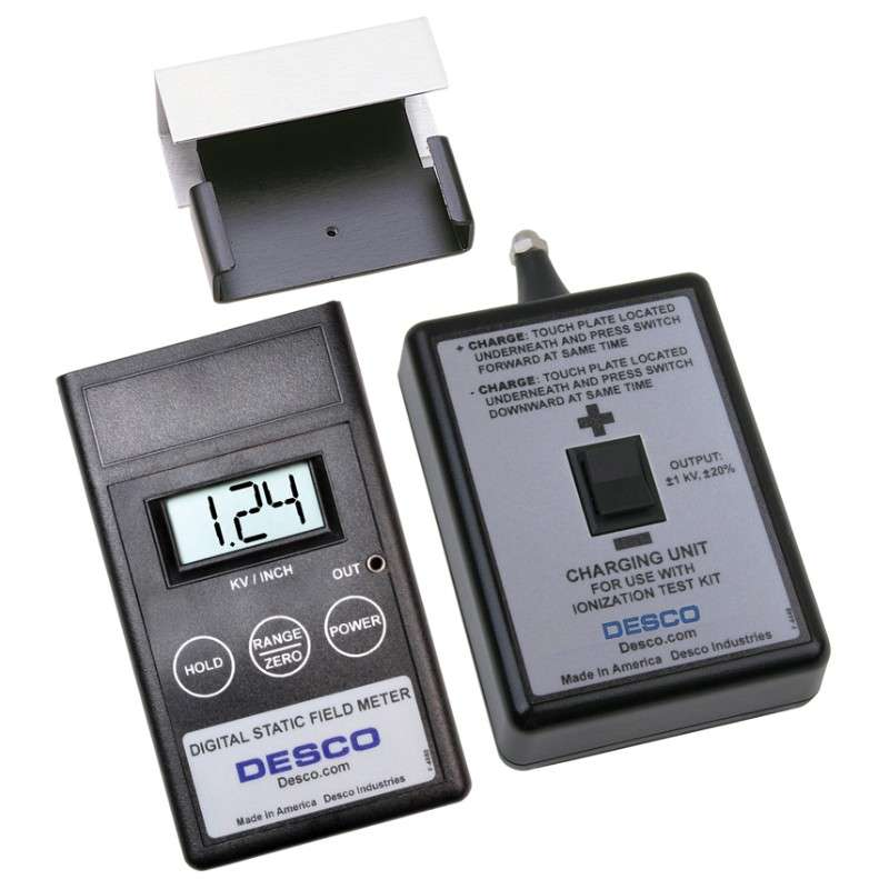 Digital Static Field Meter with Ionization Test Kit and NIST Certification