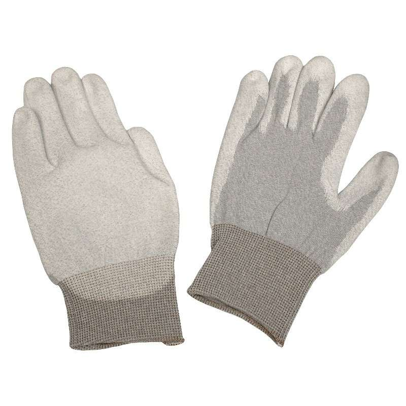 Dissipative Nylon X-Small Gloves with Polyurethane Coating and Grey Cuff, 1 Pair