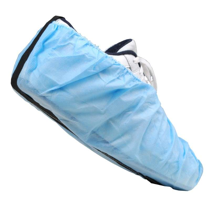 ESD-Safe Disposable Polypropylene Non-Marking Shoe Cover with Conductive Strip, One Size Fits All, 300 per Package, Blue