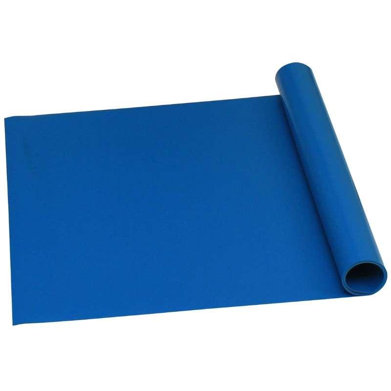 Truestat B80 Worksurface Table Mat Roll, 24 in x 50 ft x 0.08 in, Vinyl Blue