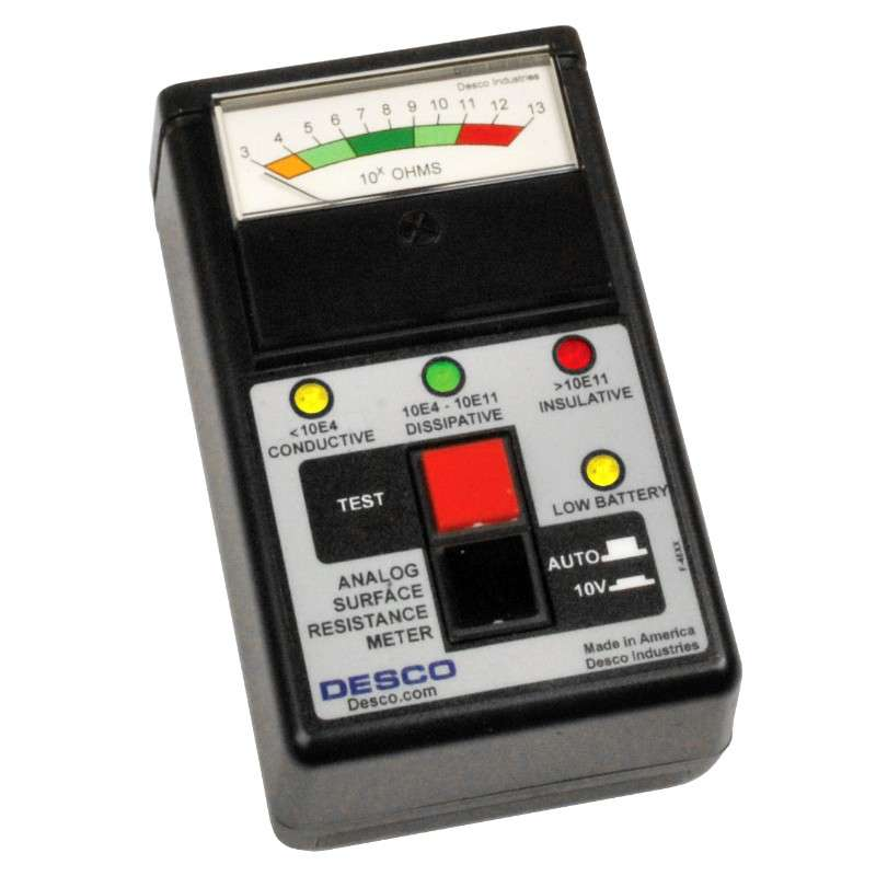 Analog Surface Resistance Meter without Weights or Leads, NIST Certified