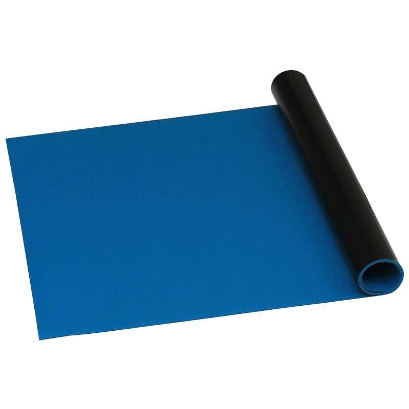 """Statfree B2 Dual Layer Dissipative Vinyl Roll, Dark Blue, 30"""" x 50' x .060"""""""