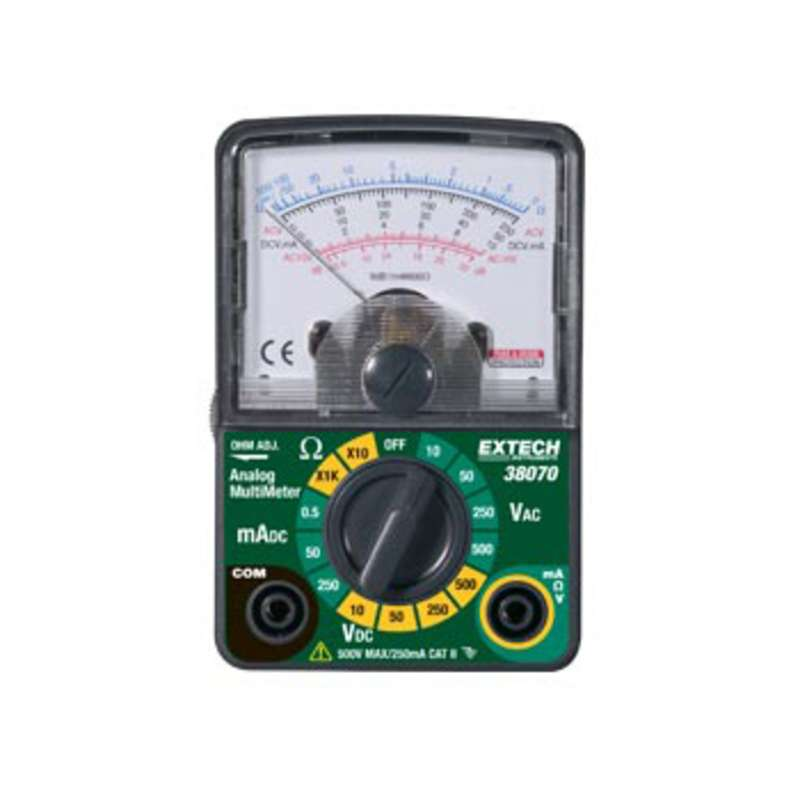 5 Function Compact Analog Multimeter with Test Leads