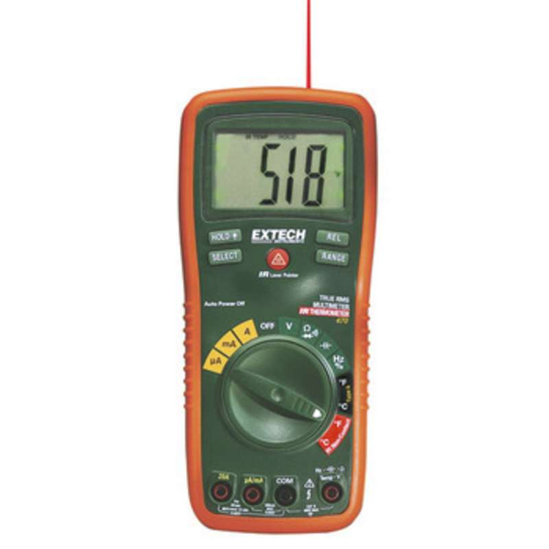 400 Series True RMS Digital Autoranging Multimeter with IR Thermometer, Capacitance and Frequency