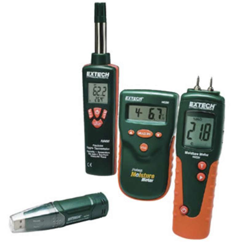 Restoration Contractor Kit with Moisture Meters, Humidity Datalogger, and Hygro-Thermometer