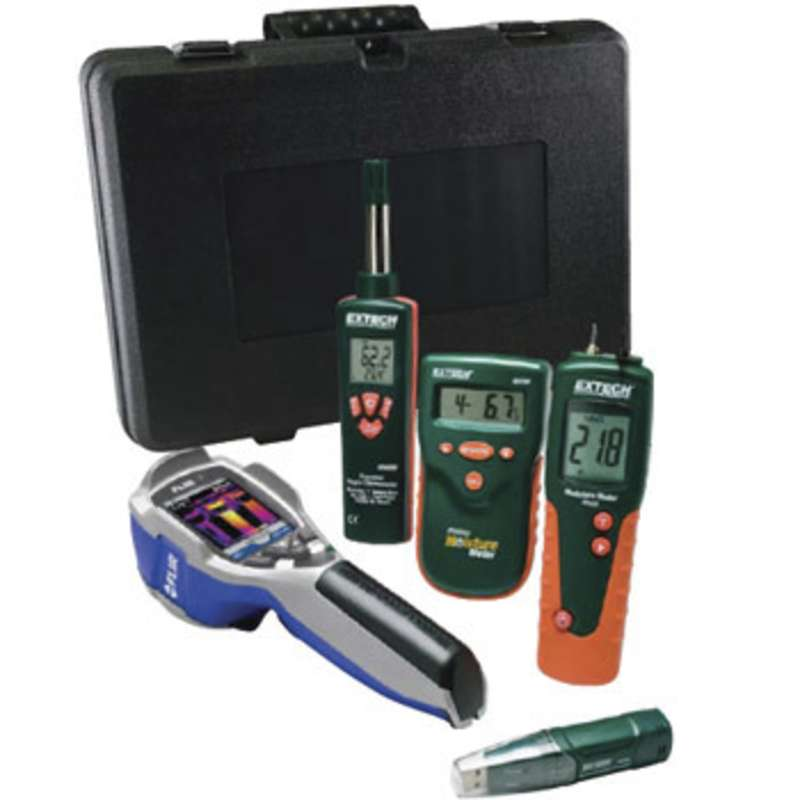 Thermal Imaging Kit with IR Camera, Moisture Meters, Thermometer and Temperature Datalogger