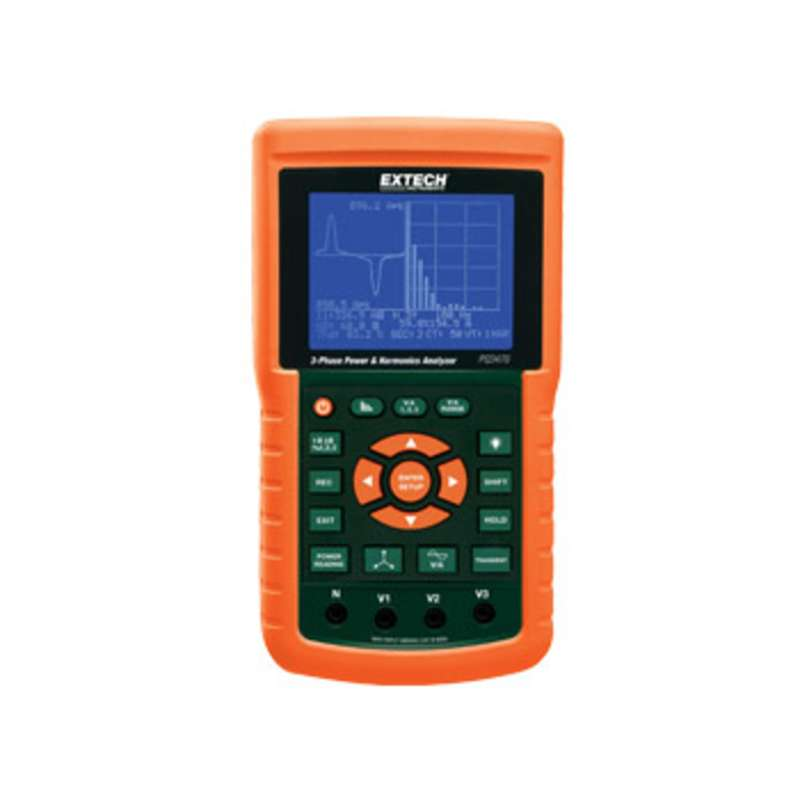 Digital 3-Phase Graphical Power and Harmonics Analyzer/Datalogger with LCD Display and Case