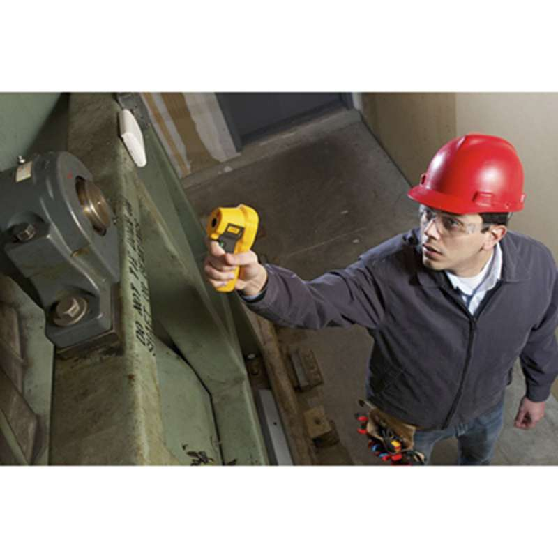 Infrared Thermometer rated IP54 for Dust and Water Resistance and Up to 10:1 Distance to Spot