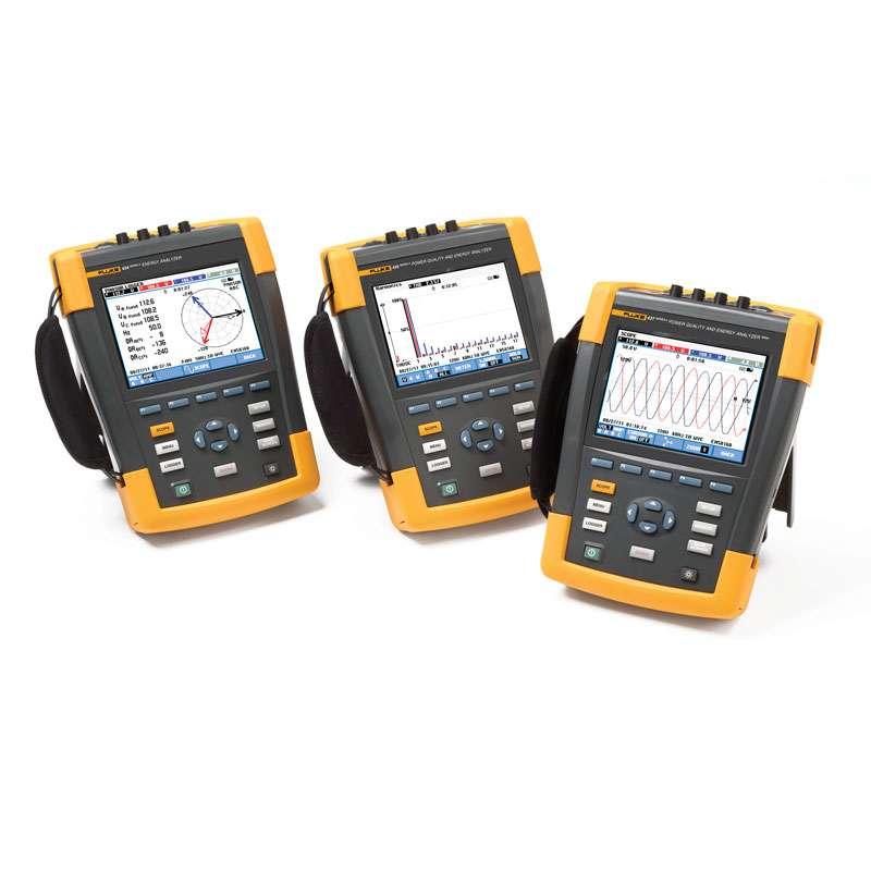 Advanced 3-Phrase Power Quality and Energy Analyzer with PowerWave Data/Waveform Capture 400 Hz