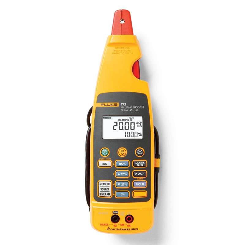 Milliamp Process Clamp Meter Measures 4 to 20mA Signals with In-Circuit with Jaw and Carrying Case
