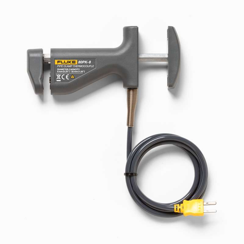 Fluke Type K Pipe Clamp Thermocouple Probe 29 To 149 C For Pipe