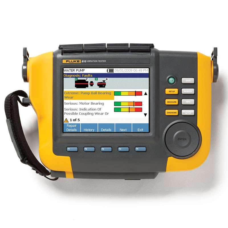 Handheld Vibration Tester and Analyzer with On-Board Identification and Location