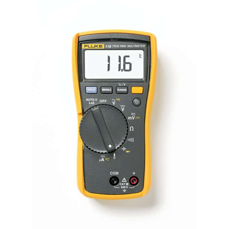 Digital HVAC Multimeter with Built-in Thermometer