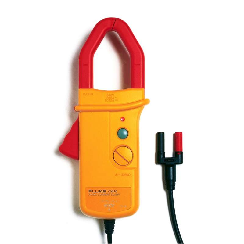 AC/DC Current Clamp with Safety Shrouded Banana Plugs Measures 1 A to 1000 A