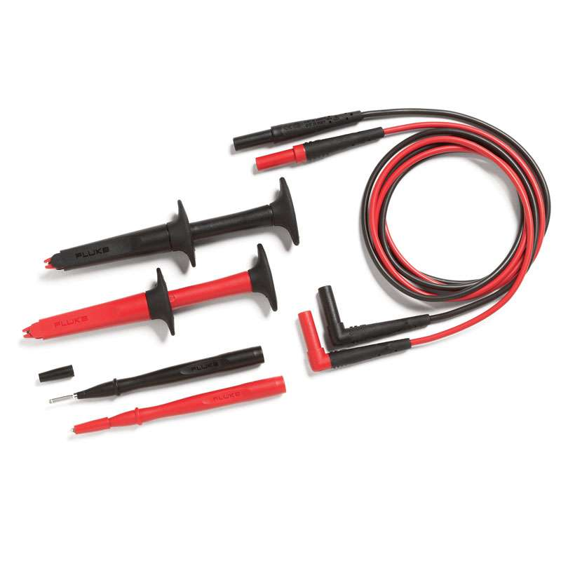 SureGrip® Industrial Test Lead Set with Slim-Reach® Flat Bladed Test Probes