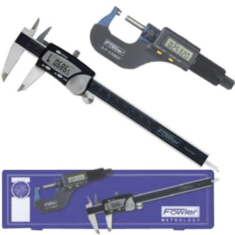 Electronic Caliper and Micrometer Measuring Set with NIST Certification