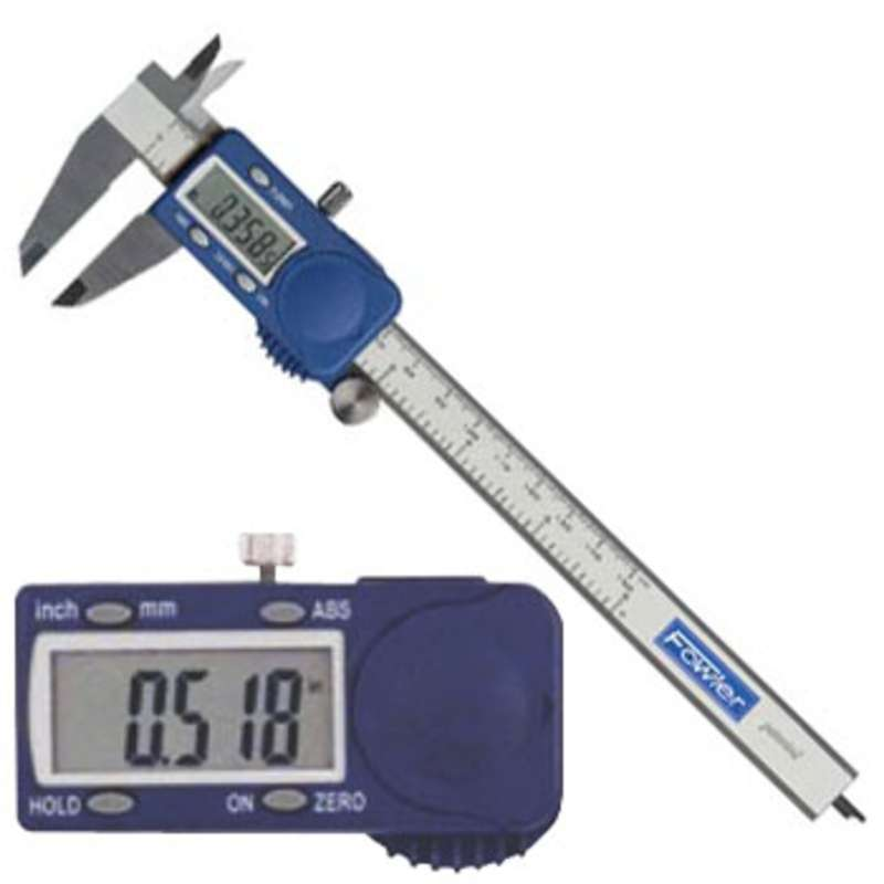 "Xtra-Value Cal® Electronic Caliper with 4-Way Measuring, Super Large Display and 0-6"" Range"