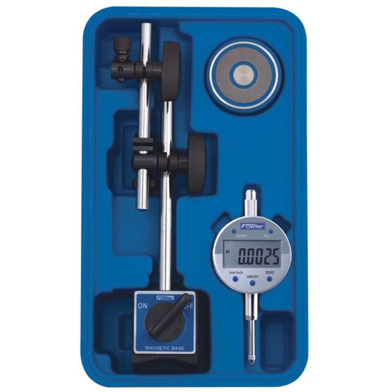 Fine Adjust Mag Base with Indi-X Blue Electronic Indicator Set