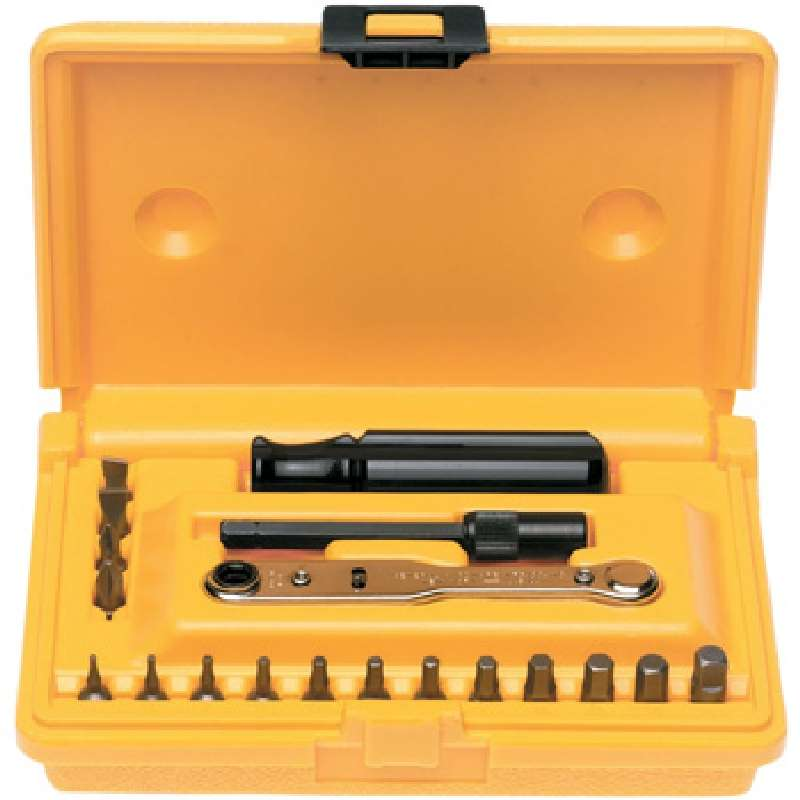 offset ratcheting screwdriver set with plastic case 19 pieces. Black Bedroom Furniture Sets. Home Design Ideas