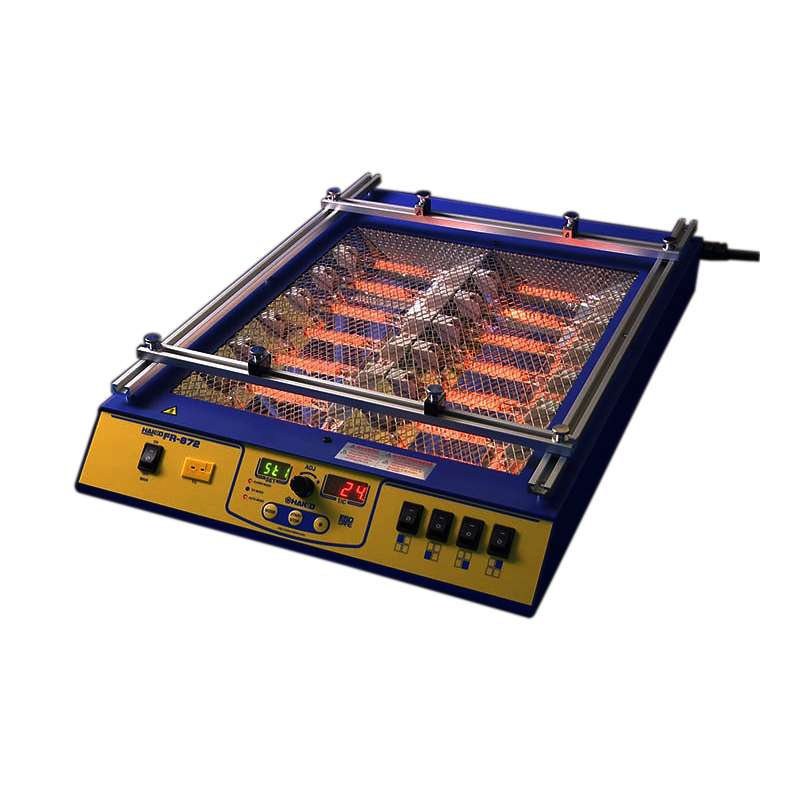 FR-872 ESD-Safe Temperature Controlled Infrared Preheater with Four Zones, 122 - 392°F Range