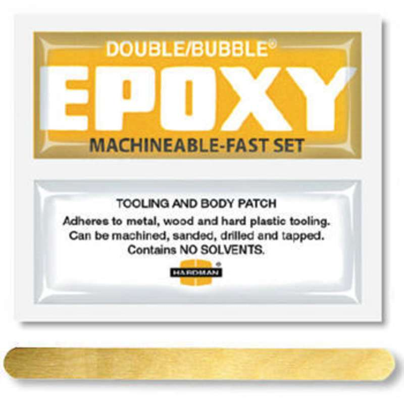 Double/Bubble® Yellow Machineable Fast Setting Epoxy Adhesive, 100 Packs per Carton