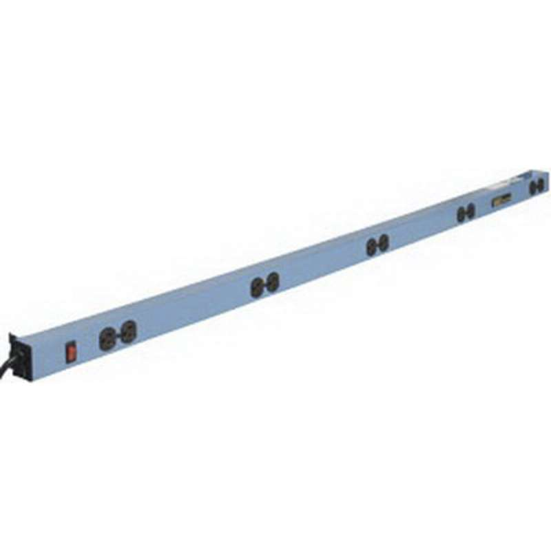 MTS-II Quick Ship Electrical Channel Assembly with 5 Duplex Outlets, EZE Blue, 57-1/2""