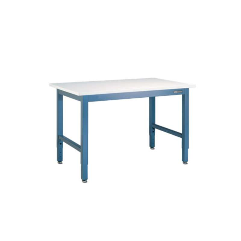 "Workmaster™ Series Quick Ship Non-ESD Bench, EZE Blue, Adjustable Height, 30""D x 72""W"