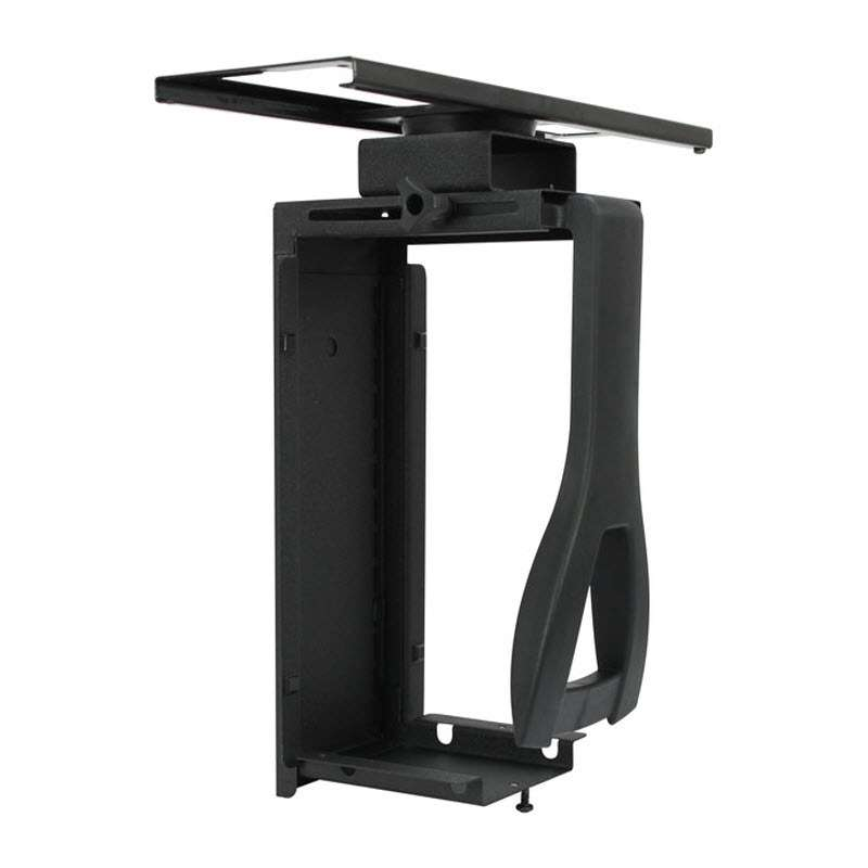Dim4 Quick Ship Slide-Out Universal CPU Holder, Textured Black