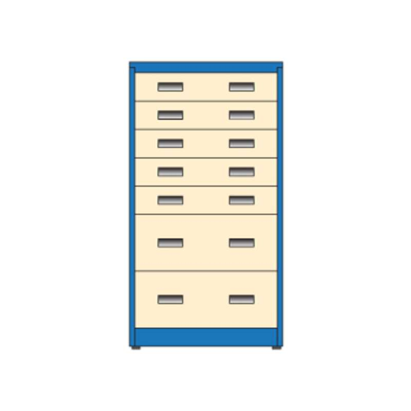 "Workmaster® All-Drawer Narrow Storage Cabinet with (5) 6"" and (2) 12"" Drawer, 26D x 30W x 56""H, Must Specify Color Choice"