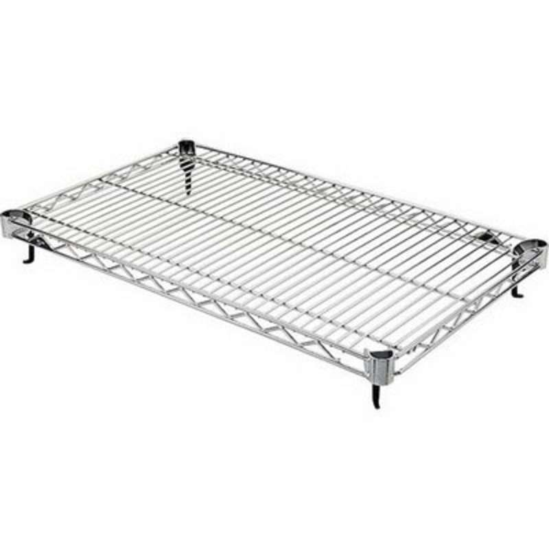 Super Adjustable 2 Wire Shelf, Stainless Steel, 18 x 24""