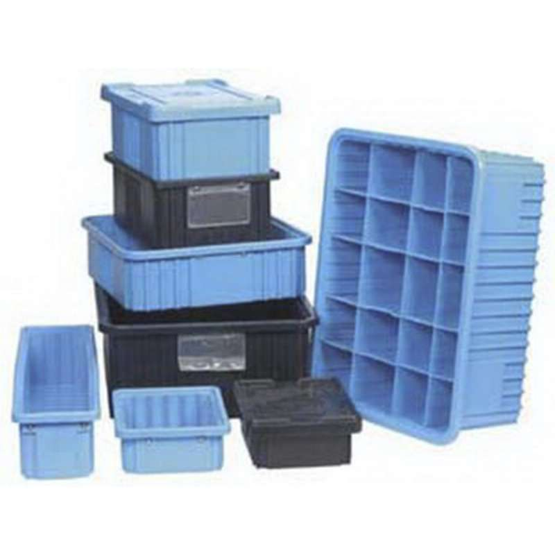 Dissipative Flat Insert Tote Box Cover for TB92000BAS Series Tote Boxes, Blue, 15-1/4 x 9-5/8""