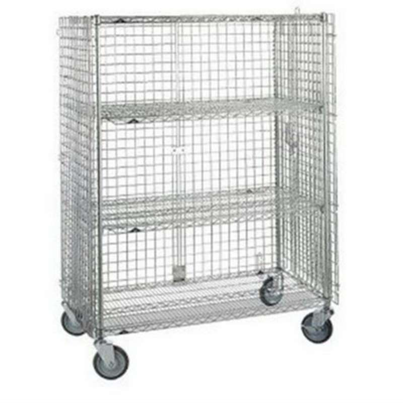 "qwikSLOT Stationary Security Cabinet 21.5 x 50.5 x 67"", Chrome Wire"