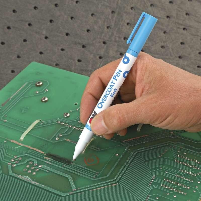 circuitworks cw3300black conformal coating overcoat penconformal coating overcoat pen dispenser, black, 4 9 grams
