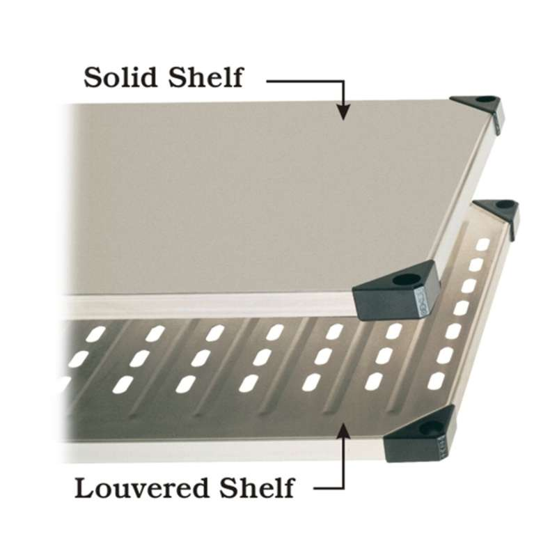 Super Erecta Stainless Steel Louvered Shelf, 24 x 30""