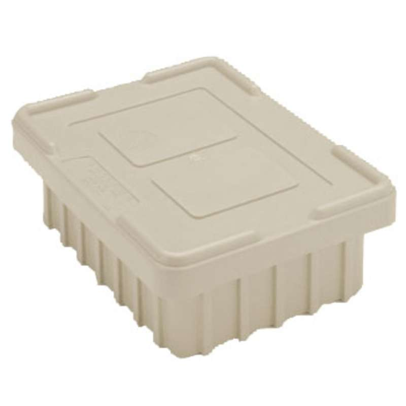 Non-ESD Snap-On Tote Box Cover for TB93000NAS Series Tote Boxes, Natural Grey, 20-5/8 x 15-5/8""