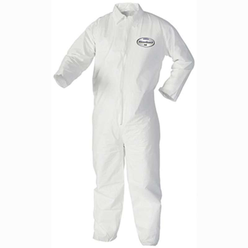 KleenGuard A40 Liquid & Particle Protection Coverall, with Zipper, White , XL, 25 per Case