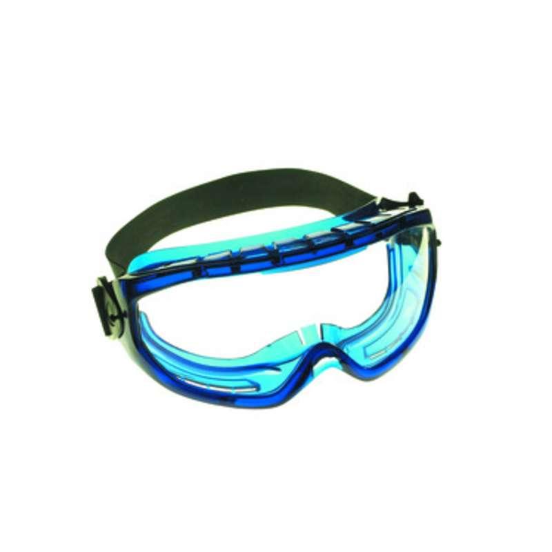 KleenGuard V80 Monogoggle Xtr OTG Safety Goggle, Clear Anti-Fog Lens, Blue Frame  6/Box