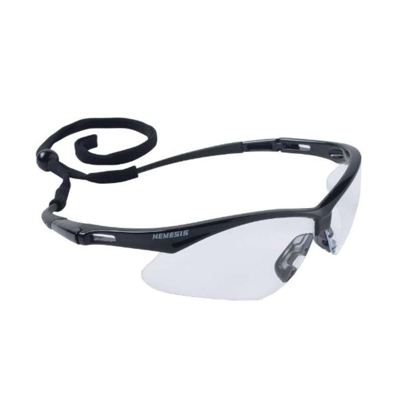 KleenGuard V30 Nemesis Safety Eyewear  Clear Anti-Fog Lens, Black Frame, 12 Pairs per Box