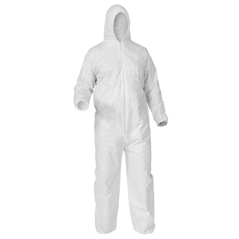 KleenGuard A35 Liquid and Particle Protection Disposable Microporous Coveralls with Zippered Front, White, X-Large, 25 per Case