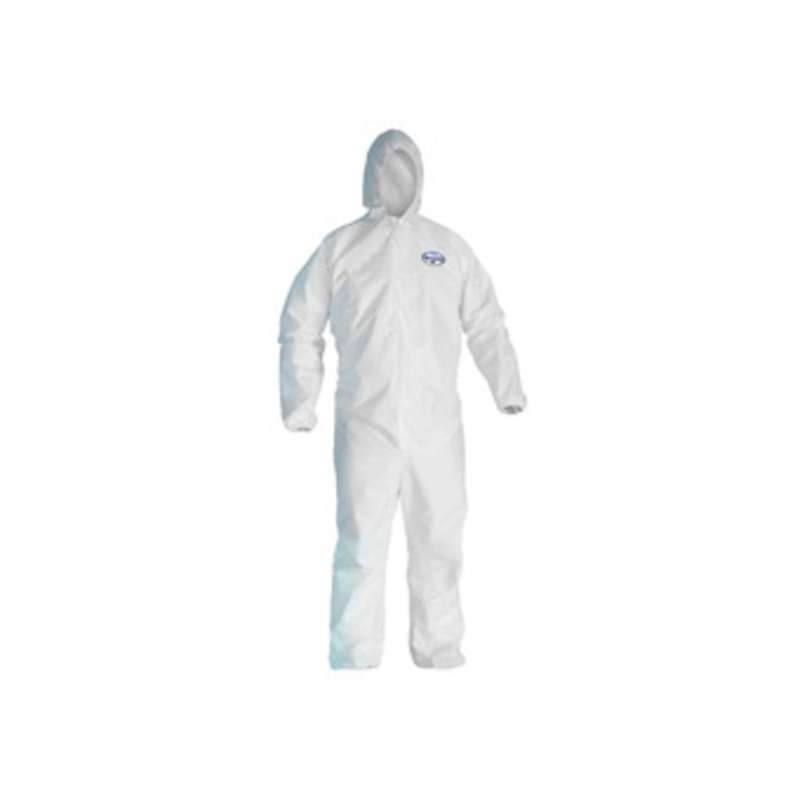 KleenGuard A45 Liquid & Particle Surface Prep and Paint Coveralls White Microporous film laminate