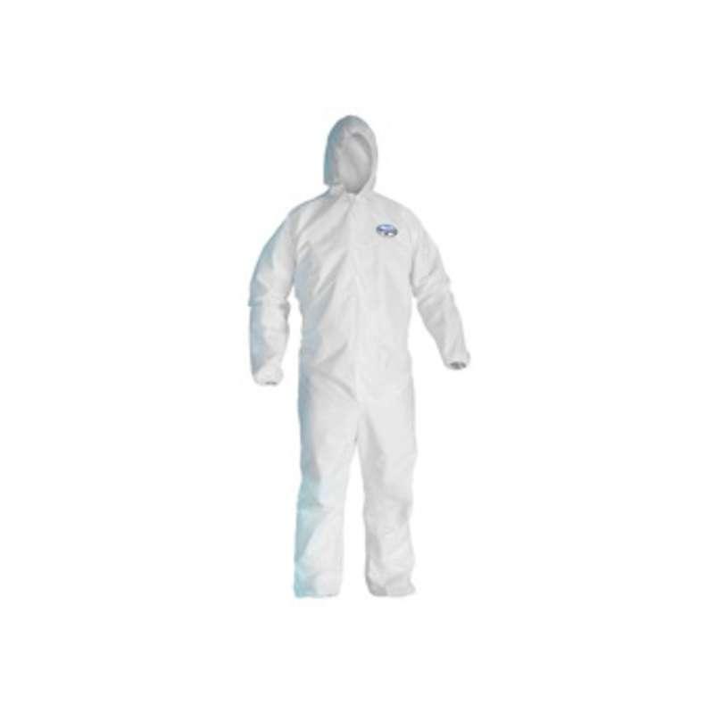 KleenGuard A45 Liquid & Particle Surface Prep and Paint Coveralls  White  Microporous film laminate  Medium  25/case